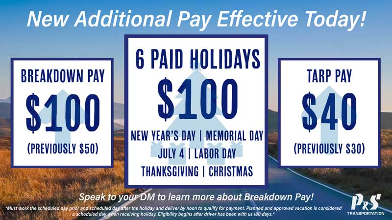 ps transport additional pay package