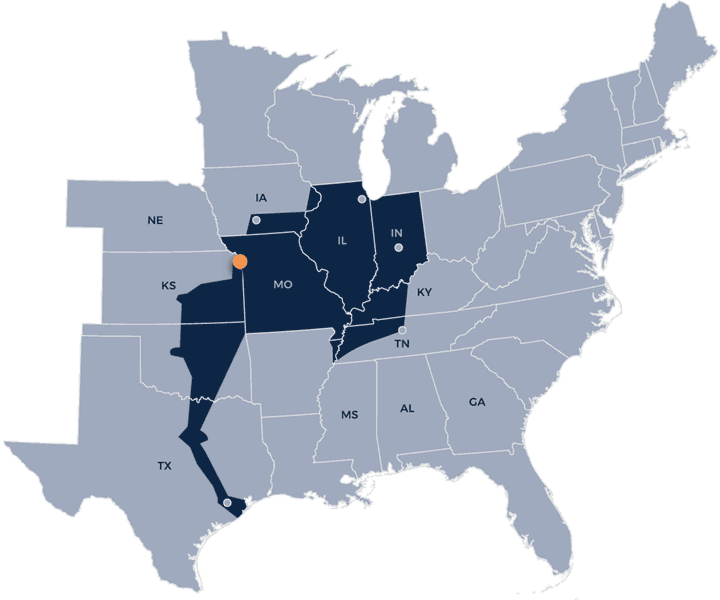 American Central Transport hiring map