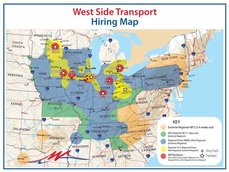 West Side Transport hiring area